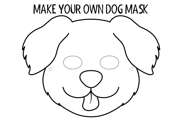 Make-your-own-dog-mask-image for the crafts for kids page