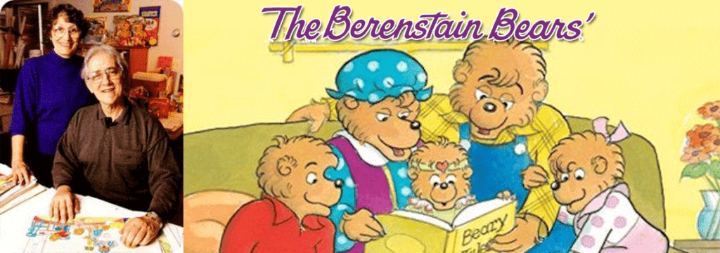 The-Berenstain-Bears-Banner for the article agout Stan and Jan Berenstain