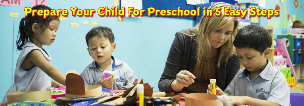 an image of kids at school with their teacher for the Prepare-Your-Child-For-Preschool article header