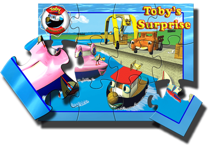 Tobybooks image of Toby for the Puzzle blurb on the home-page